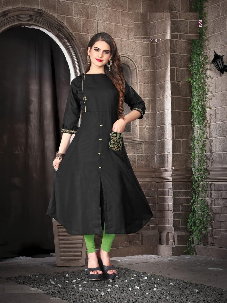 black color kurti