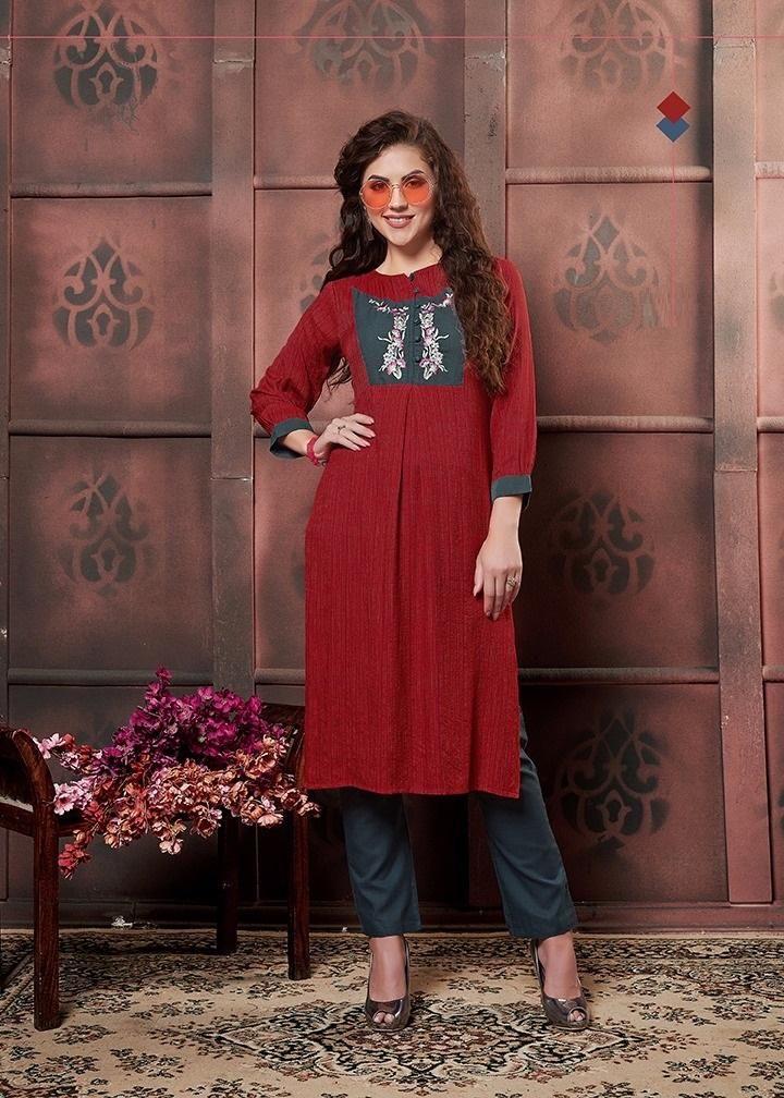 red color kurti