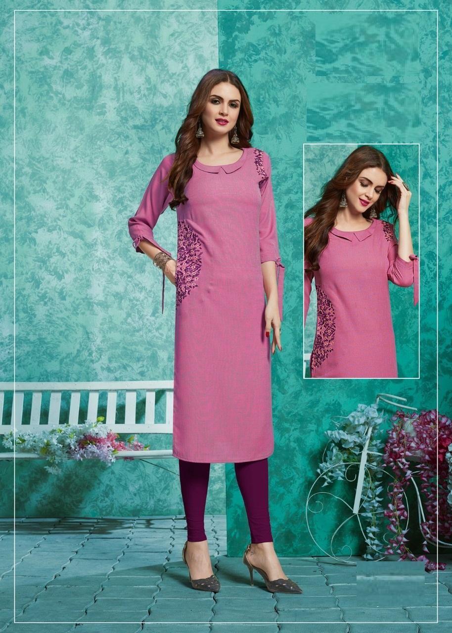 pink color kurti