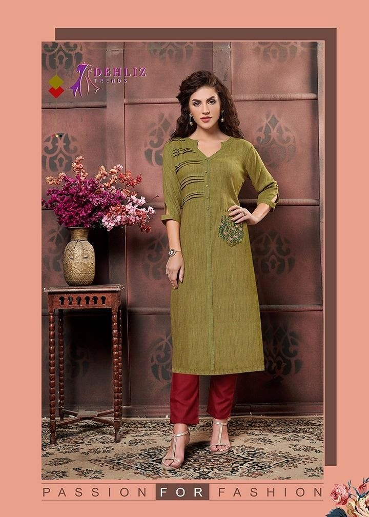 green color kurti