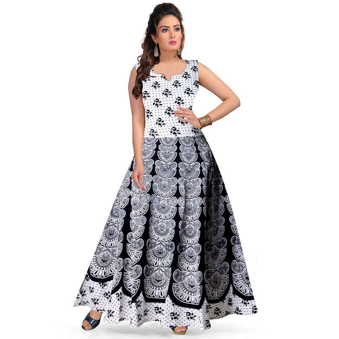 Women Jaipuri Printed Cotton Maxi Dress (Code: C775144) Price ₹ 379